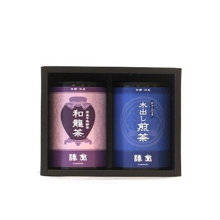 和龍茶・水出し煎茶セット【ミニ缶】