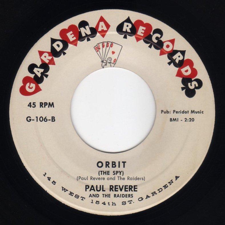 Paul Revere And The Raiders - Orbit (The Spy) / Beatnik Sticks - FRATHOP RECORDS