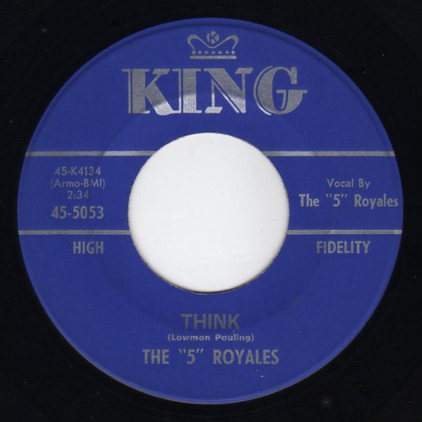 """The """"5"""" Royales - Think - FRATHOP RECORDS"""