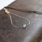 [minikin]14kgf/ハーキマーダイヤモンドのブレスレット