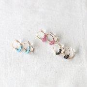 [minikin]14kgf/天然石が並ぶ小さなイヤリング