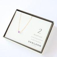 [VANLOON]K10/K18【2月/アメジスト】小さな誕生石のネックレス