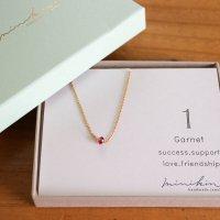 [即納][minikin]14kgf/【1月】ガーネットのネックレス