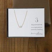 [即納][minikin]14kgf/【3月】アクアマリン(ブルー)のネックレス