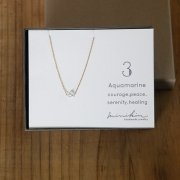 [minikin]14kgf/【3月】アクアマリン(ブルー)のネックレス