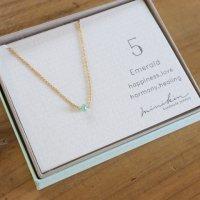 [即納][minikin]14kgf/【5月】エメラルドのネックレス