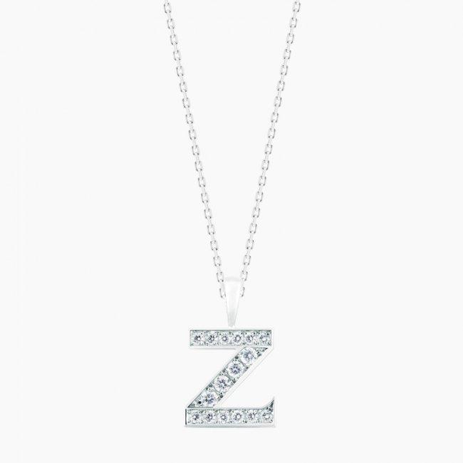 ダイヤモンド アルファベット Z  / 18KWG