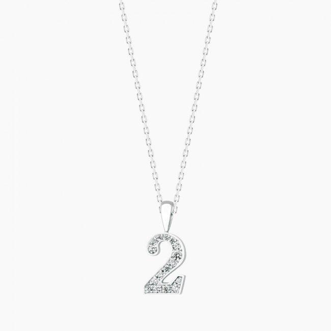 ダイヤモンド ナンバー NO.2  / 18KWG