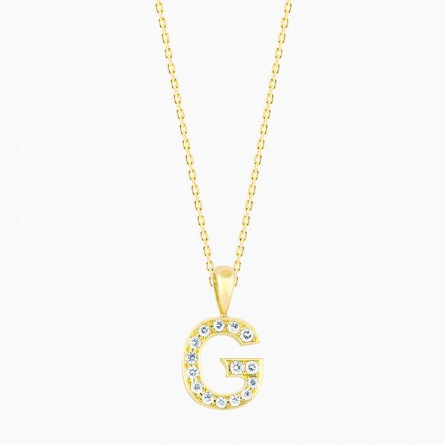 ダイヤモンド アルファベット G  / 18KYG