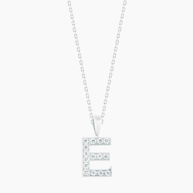 ダイヤモンド アルファベット E  / 18KWG
