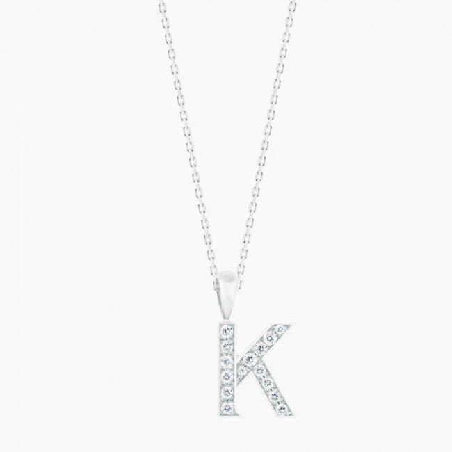 ダイヤモンド アルファベット K  / 18KWG