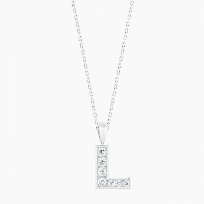 ダイヤモンド アルファベット L  / 18KWG