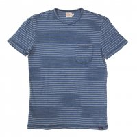 <img class='new_mark_img1' src='//img.shop-pro.jp/img/new/icons50.gif' style='border:none;display:inline;margin:0px;padding:0px;width:auto;' />FAHERTY BRAND POCKET TEE Blue White Midium Wash