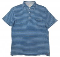 FAHERTY BRAND JERSEI BEACH POLO Blue White Midium Wash