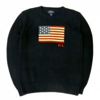 <img class='new_mark_img1' src='//img.shop-pro.jp/img/new/icons50.gif' style='border:none;display:inline;margin:0px;padding:0px;width:auto;' />POLO by RALPH LAUREN Flag Cotton Crewneck Sweater NAVY