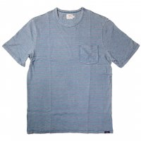 <img class='new_mark_img1' src='https://img.shop-pro.jp/img/new/icons50.gif' style='border:none;display:inline;margin:0px;padding:0px;width:auto;' />FAHERTY BRAND Pocket Tee Vintage Wash Indigo/Red Stripe