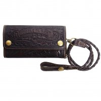 RRL LEATHER LONG WALLET