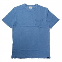 FAHERTY BRAND SS POCKET TEE BEACH WASH INDIGO