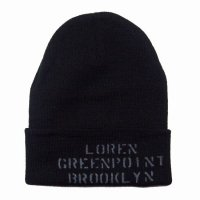 <img class='new_mark_img1' src='//img.shop-pro.jp/img/new/icons50.gif' style='border:none;display:inline;margin:0px;padding:0px;width:auto;' />loren Stencil Beanie Black