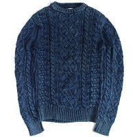 <img class='new_mark_img1' src='https://img.shop-pro.jp/img/new/icons50.gif' style='border:none;display:inline;margin:0px;padding:0px;width:auto;' />FAHERTY BRAND INDIGO FISHERMAN'S CABLEKNIT SWEATER