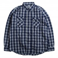 <img class='new_mark_img1' src='//img.shop-pro.jp/img/new/icons15.gif' style='border:none;display:inline;margin:0px;padding:0px;width:auto;' />NECESSARY OR UNNECESSARY SNACK SHIRTS NAVYCHECK