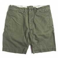 <img class='new_mark_img1' src='https://img.shop-pro.jp/img/new/icons15.gif' style='border:none;display:inline;margin:0px;padding:0px;width:auto;' />RRL  COTTON CHINO OFFICERS SHORT OLIVE
