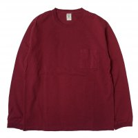 <img class='new_mark_img1' src='//img.shop-pro.jp/img/new/icons50.gif' style='border:none;display:inline;margin:0px;padding:0px;width:auto;' />Jackman Pocket Long Sleeve Tee BURGUNDY