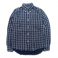 <img class='new_mark_img1' src='https://img.shop-pro.jp/img/new/icons50.gif' style='border:none;display:inline;margin:0px;padding:0px;width:auto;' />NECESSARY or UNNECESSARY B.D SHIRT NAVY-CHECK