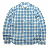 <img class='new_mark_img1' src='https://img.shop-pro.jp/img/new/icons50.gif' style='border:none;display:inline;margin:0px;padding:0px;width:auto;' />Corridor Madras L/S SHIRTS Baby Blue