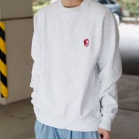 <img class='new_mark_img1' src='//img.shop-pro.jp/img/new/icons15.gif' style='border:none;display:inline;margin:0px;padding:0px;width:auto;' />Sunday Slam CREW NECK SWEAT  Reverse Weave WHITE