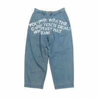 <img class='new_mark_img1' src='https://img.shop-pro.jp/img/new/icons50.gif' style='border:none;display:inline;margin:0px;padding:0px;width:auto;' />ANACHRONORM STENCIL DENIM TUCK WIDE PANTS