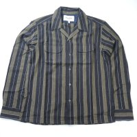 <img class='new_mark_img1' src='https://img.shop-pro.jp/img/new/icons50.gif' style='border:none;display:inline;margin:0px;padding:0px;width:auto;' />Corridor Black Olive Summer Stripe Work Shirt