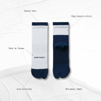 <img class='new_mark_img1' src='//img.shop-pro.jp/img/new/icons15.gif' style='border:none;display:inline;margin:0px;padding:0px;width:auto;' />GOOPi R-F DOUBLE RIBS TABI SOCKS NAVY