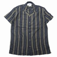 <img class='new_mark_img1' src='https://img.shop-pro.jp/img/new/icons50.gif' style='border:none;display:inline;margin:0px;padding:0px;width:auto;' />Corridor Black Olive Summer Stripe S/S Shirt