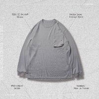 <img class='new_mark_img1' src='https://img.shop-pro.jp/img/new/icons50.gif' style='border:none;display:inline;margin:0px;padding:0px;width:auto;' />GOOPi 3D POCKET LONGSLEEVE TEE GRAY