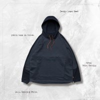 """<img class='new_mark_img1' src='https://img.shop-pro.jp/img/new/icons50.gif' style='border:none;display:inline;margin:0px;padding:0px;width:auto;' />GOOPi """"Mixed"""" Logo Hoodie  Dark Navy/Blue"""