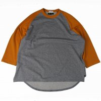 <img class='new_mark_img1' src='https://img.shop-pro.jp/img/new/icons50.gif' style='border:none;display:inline;margin:0px;padding:0px;width:auto;' />Nasngwam.×SPINNER BAIT BASEBALL TEE GRAY×YELLOW