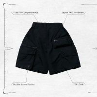 <img class='new_mark_img1' src='https://img.shop-pro.jp/img/new/icons15.gif' style='border:none;display:inline;margin:0px;padding:0px;width:auto;' />GOOPi Multi-Pocket Utility Shorts - Black