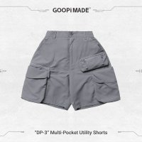 <img class='new_mark_img1' src='https://img.shop-pro.jp/img/new/icons15.gif' style='border:none;display:inline;margin:0px;padding:0px;width:auto;' />GOOPi Multi-Pocket Utility Shorts - LIGHT GRAY