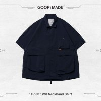 <img class='new_mark_img1' src='https://img.shop-pro.jp/img/new/icons15.gif' style='border:none;display:inline;margin:0px;padding:0px;width:auto;' />GOOPi WR Neckband Shirt - NAVY
