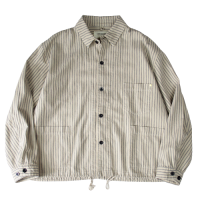 <img class='new_mark_img1' src='https://img.shop-pro.jp/img/new/icons15.gif' style='border:none;display:inline;margin:0px;padding:0px;width:auto;' />ANACHRONORM AN098 COVERALL SHIRT � HICKORY STRIPE 02/アナクロノーム カバーオール シャツ ヒッコリー ストライプ