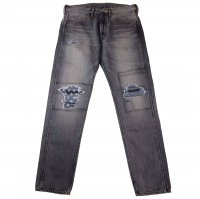 Nasngwam. LOCAL DENIM (CRASH) BLACK