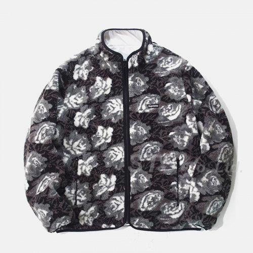 Supreme - Roses Sherpa Fleece Reversible Jacket