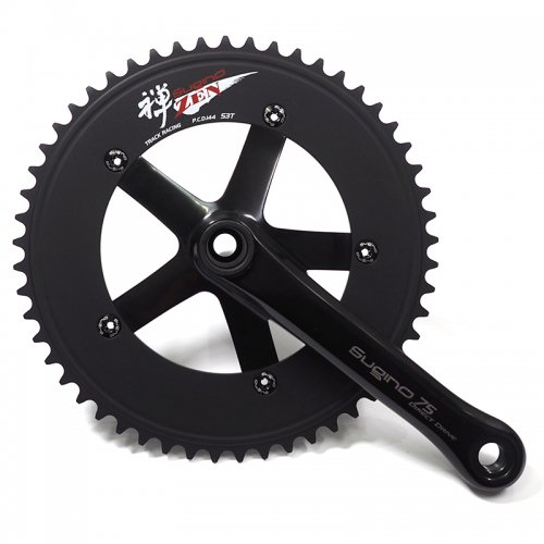 Sugino - ZEN144-DD75 Direct Drive Crankset (Black , 51-52T)