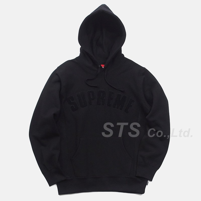 Supreme - Chenille Arc Logo Hooded Sweatshirt