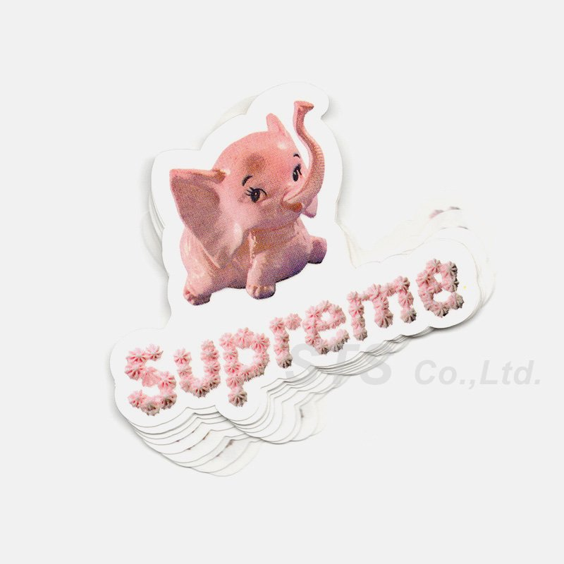 Supreme - Elephant Sticker