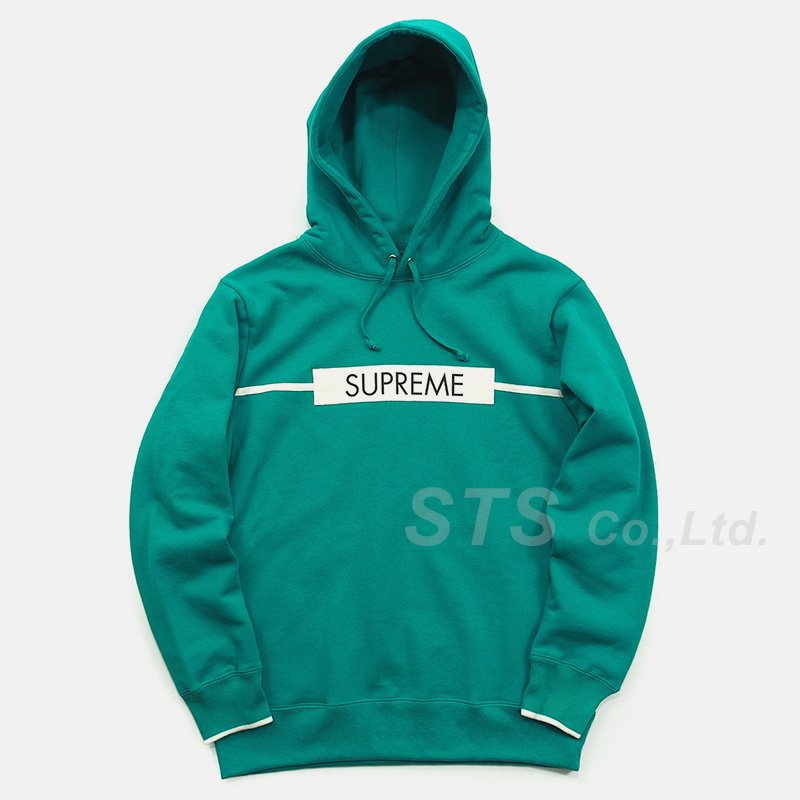 Supreme - Chest Twill Tape Hooded Sweatshirt