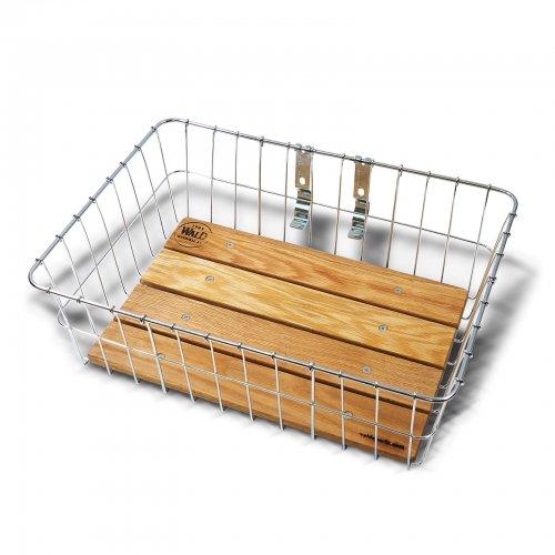 WALD - 1392WW (zinc) Woody Front Basket