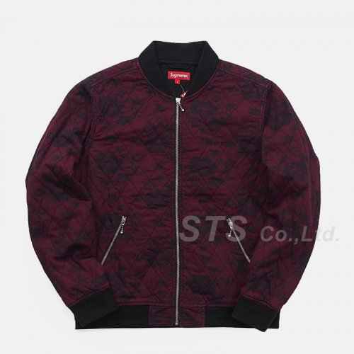 Supreme - Quilted Lace Bomber Jacket