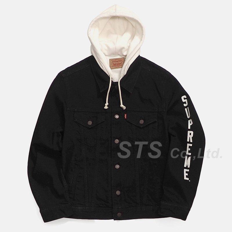Supreme/Levi's Fleece Hood Trucker Jacket